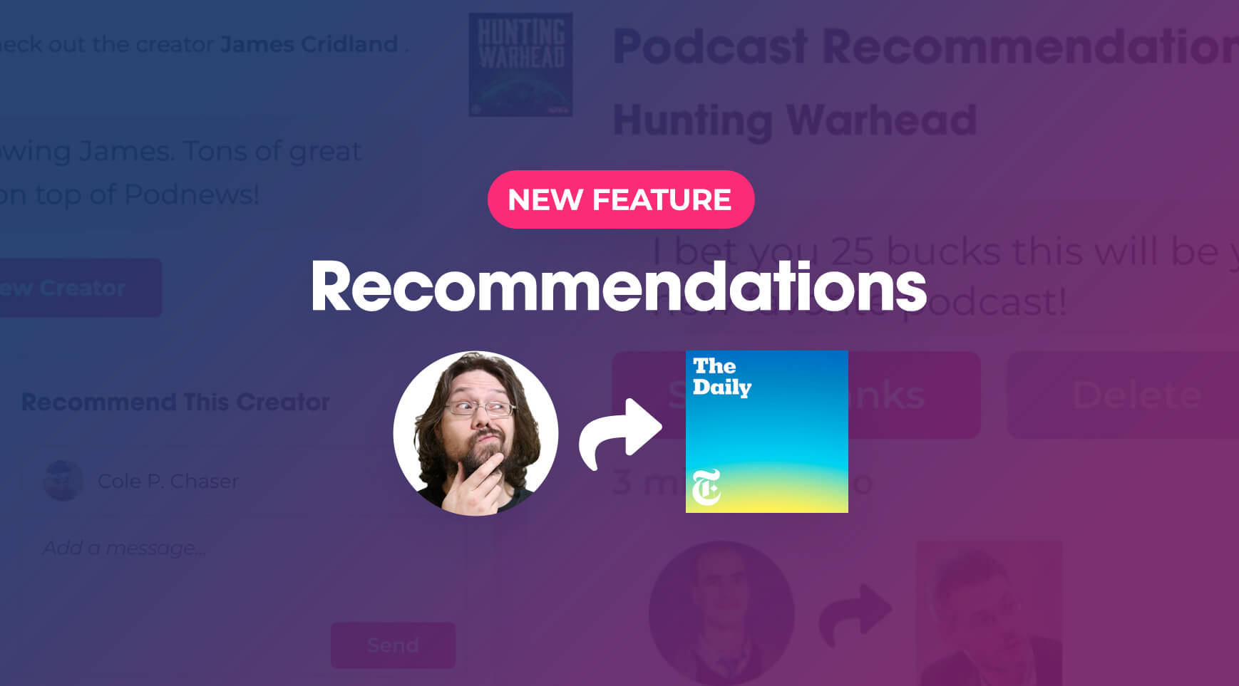 NEW: Send Personalized Podcast Recommendations with Podchaser