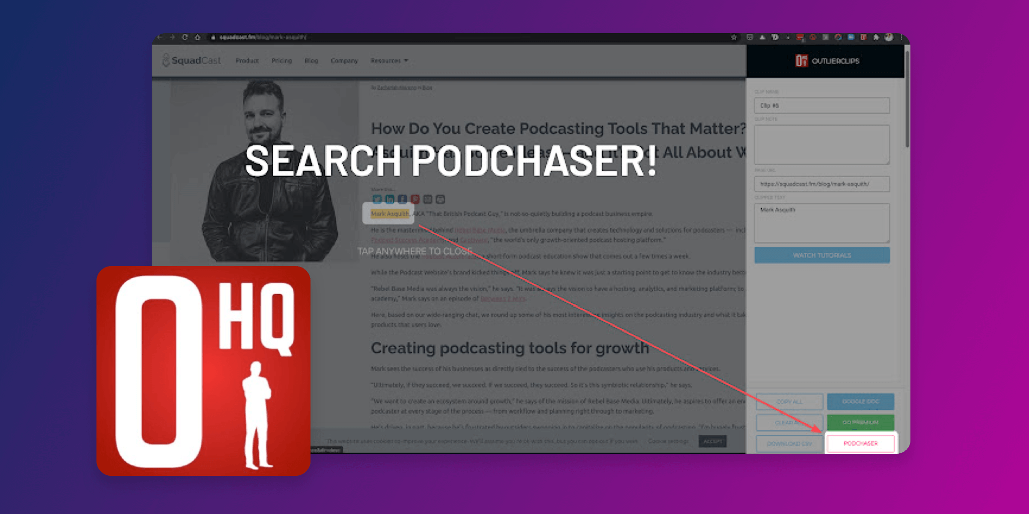 New OutlierClips Chrome Extension Lets You Easily Search Podchaser