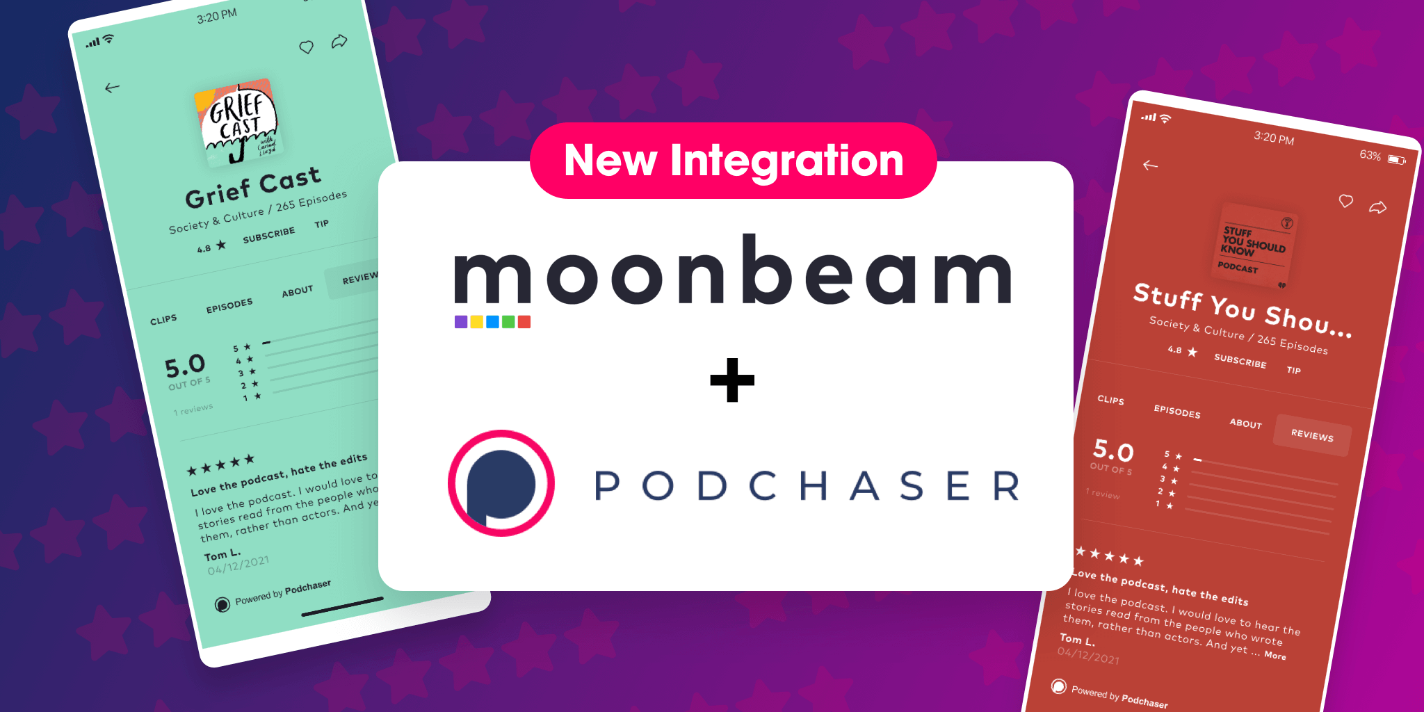 Moonbeam Offers Ratings & Reviews Powered by Podchaser!